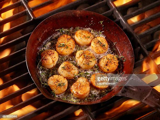 BBQ Pan Seared Scallops in Butter