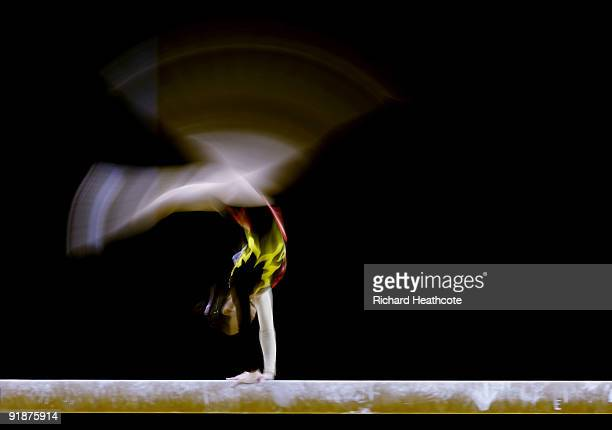 Pan Thi Ha Thanh of Vietnamn competes in the balance beam event during the second day of the Artistic Gymnastics World Championships 2009 at O2 Arena...