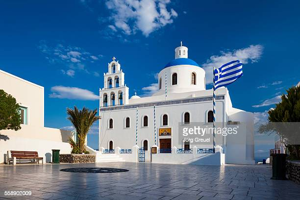 panagia church - oia santorini stock pictures, royalty-free photos & images
