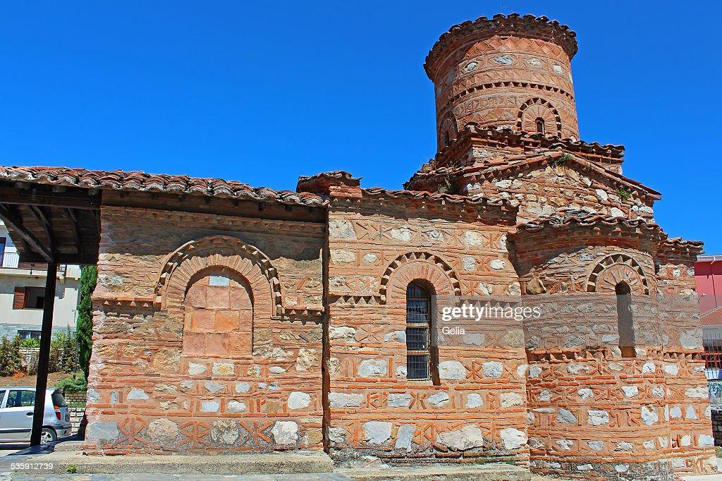 Iglesia Panagia Koumbelidiki, Kastoria, Grecia : Foto de stock