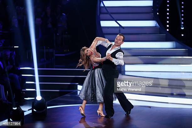 Panagiota Petridou and Sergiu Luca perform on stage during the 1st show of the television competition 'Let's Dance' on March 13 2015 in Cologne...