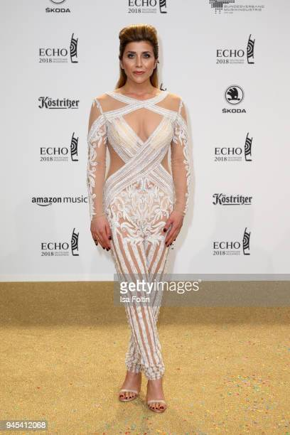Panagiota Petridou arrives for the Echo Award at Messe Berlin on April 12 2018 in Berlin Germany