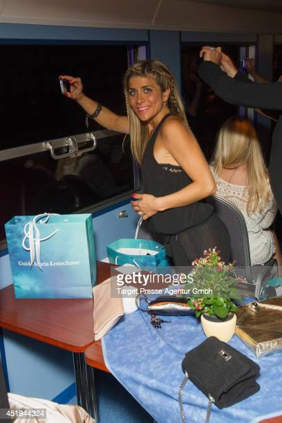 Panagiota Petridou attends the Guido Maria Kretschmer after show party during the Mercedes-Benz Fashion Week Spring/Summer 2015 at on July 9, 2014 in...