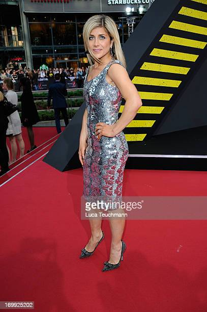 Panagiota Petridou attends the premiere of World War Z at Sony Centre on June 4 2013 in Berlin Germany