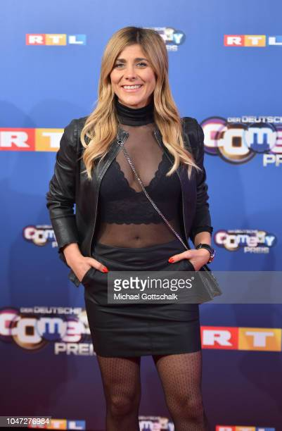 Panagiota Petridou attends the red carpet at the 22nd Annual German Comedy Awards at Studio in Koeln Muehlheim on October 7, 2018 in Cologne, Germany.