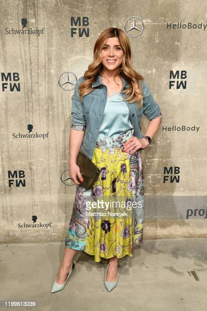 Panagiota Petridou attends the Sportalm show during Berlin Fashion Week Autumn/Winter 2020 at Kraftwerk Mitte on January 15, 2020 in Berlin, Germany.