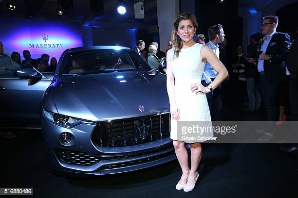 Panagiota Petridou during the Maserati 'Levante' Launch event on March 21 2016 in Frankfurt am Main Germany