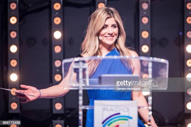 Panagiota Petridou holds a speech during the Radio Regenbogen Award 2017 at Europapark on April 7 2017 in Rust Germany