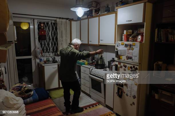 Panagiotis 47 years old seen dancing in the kitchen He's a chief at the moment unemployed After eight years of an ongoing economical crisis Greece is...