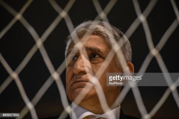 Panagiotis Giannakis headcoach of Aris BC and former European Champion during Championship Basket League match between GSKymis and Aris BC at...