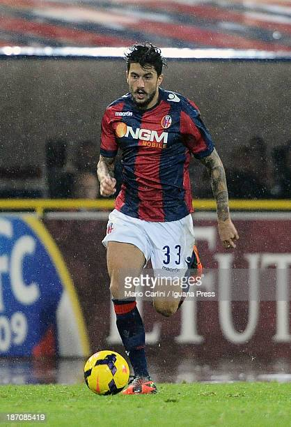 Panagiotis Kone of Bologna FC in action during the Serie A match between Bologna FC and AC Chievo Verona at Stadio Renato Dall'Ara on November 4 2013...