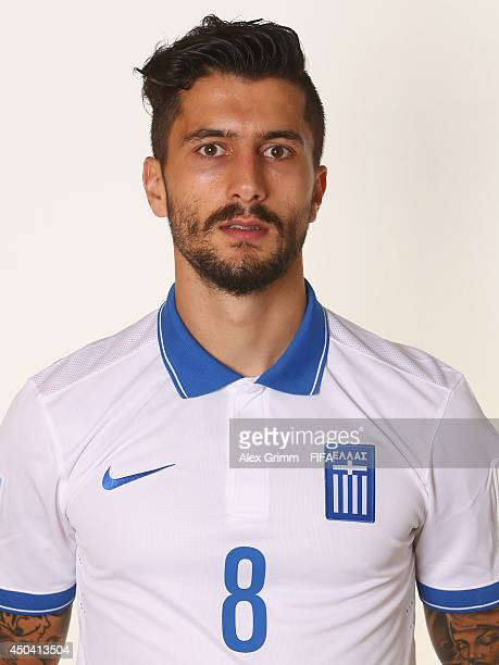Panagiotis Kone of Greece poses during the official FIFA World Cup 2014 portrait session on June 10 2014 in Aracaju Brazil
