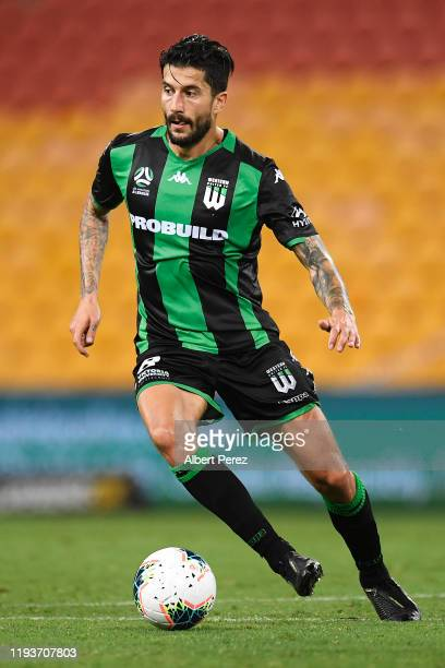 Panagiotis Kone of Western United in action during the round 10 A-League match between the Brisbane Roar and Western United at Suncorp Stadium on...