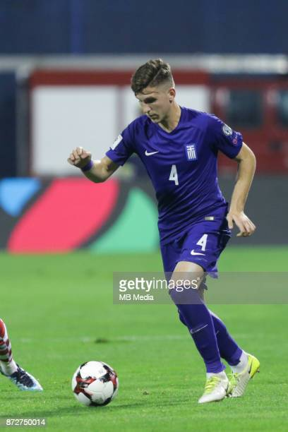 Panagiotis Retsos of Greece controls the ball during the FIFA 2018 World Cup Qualifier playoff first leg match between Croatia and Greece at Maksimir...