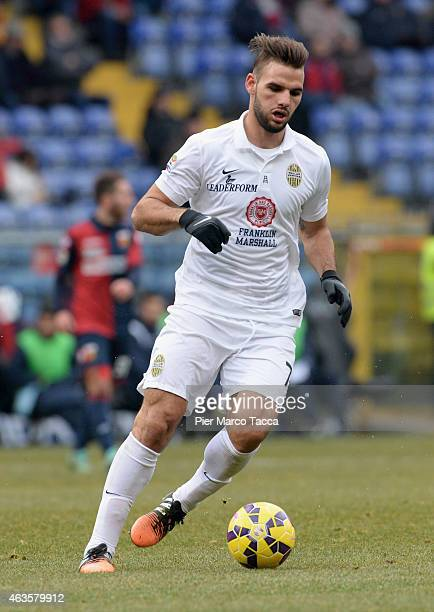 Panagiotis Tachtsidis Hellas Verona FC in action during the Serie A match between Genoa CFC and Hellas Verona FC at Stadio Luigi Ferraris on February...