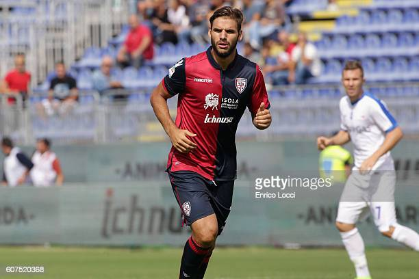Panagiotis Tachtsidis of cagliari look on during the Serie A match between Cagliari Calcio and Atalanta BC at Stadio Sant'Elia on September 18 2016...