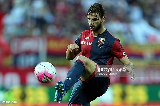 Panagiotis Tachtsidis of Genoa CFC in action during the Serie A match between Carpi FC and Genoa CFC at Alberto Braglia Stadium on April 16 2016 in...