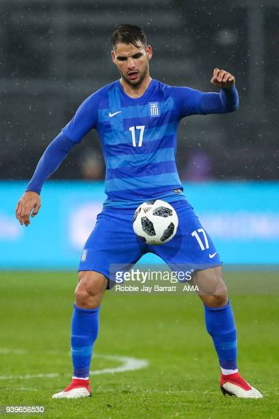 Panagiotis Tachtsidis of Greece during the International Friendly match between Egypt and Greece at Stadion Letzigrund at Letzigrund on March 27 2018...
