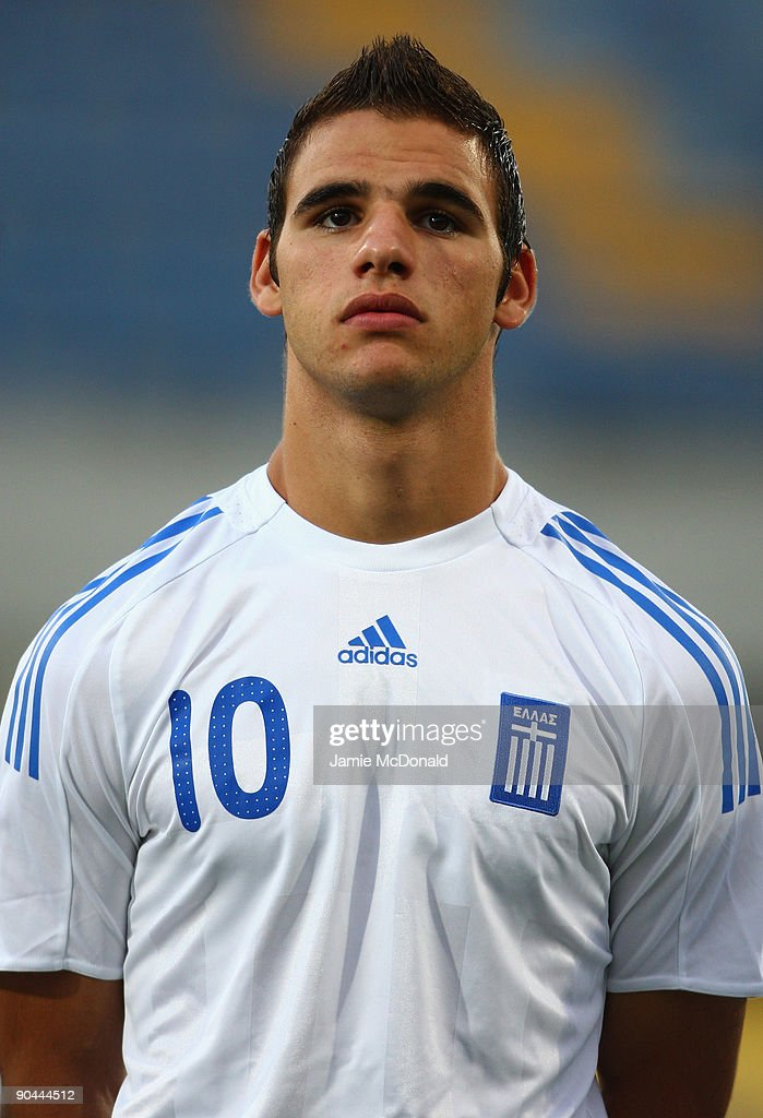 Panagiotis Tachtsidis of Greece looks on during the UEFA U21 Championship match between Greece and England at the Asteras Tripolis Stadium on September 8, 2009 in Tripolis, Greece.