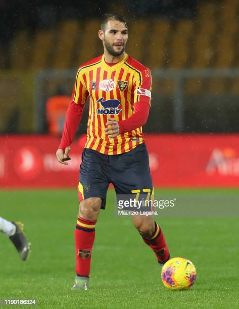 Panagiotis Tachtsidis of Lecce during the Serie A match between US Lecce and Cagliari Calcio at Stadio Via del Mare on November 25 2019 in Lecce Italy