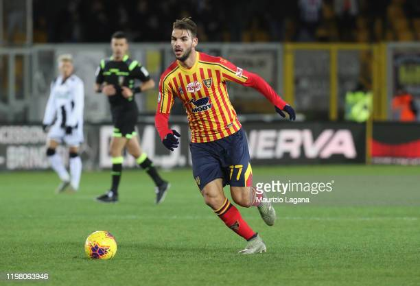 Panagiotis Tachtsidis of Lecce during the Serie A match between US Lecce and Udinese Calcio at Stadio Via del Mare on January 5 2020 in Lecce Italy