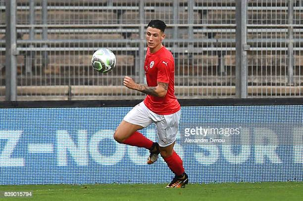 Panagiotis Vlachodimos of Nimes during the Ligue 2 match between Nimes and Le Havre AC at Stade des Costieres on August 25 2017 in Nimes France