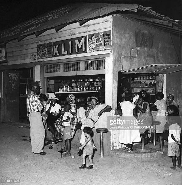 Panama City A Local Street Bar By Night In The 1950'S