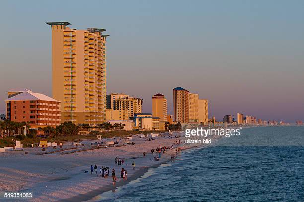 Panama City Beach in the Panhandle at the Gulf Coast Florida USA