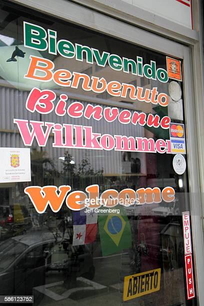 Panama City Bella Vista storefront welcome sign