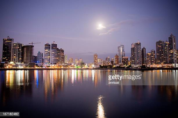 panama city reflections - panama stock pictures, royalty-free photos & images