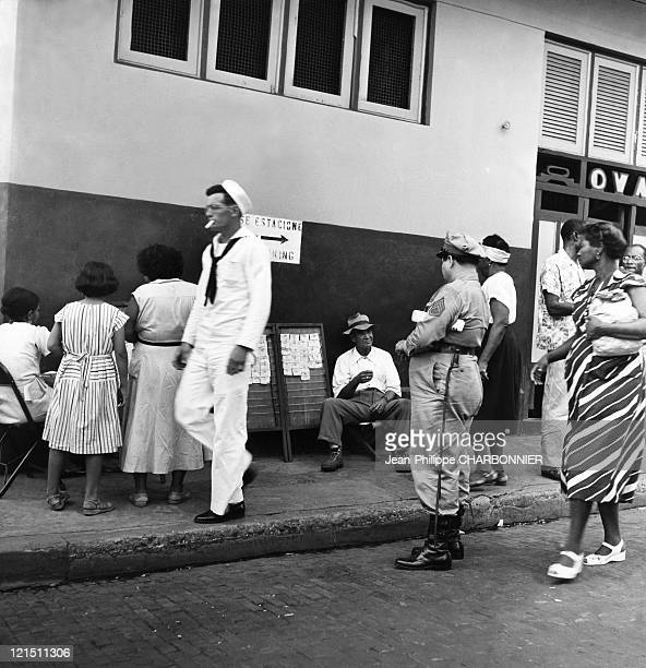 Panama City Street Scene In The 1950'S