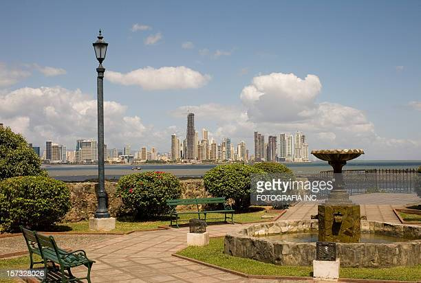 panama city view - panama stock pictures, royalty-free photos & images