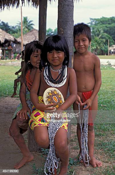 Panama Darien Jungle Choco Indian Village Choco Indian Children