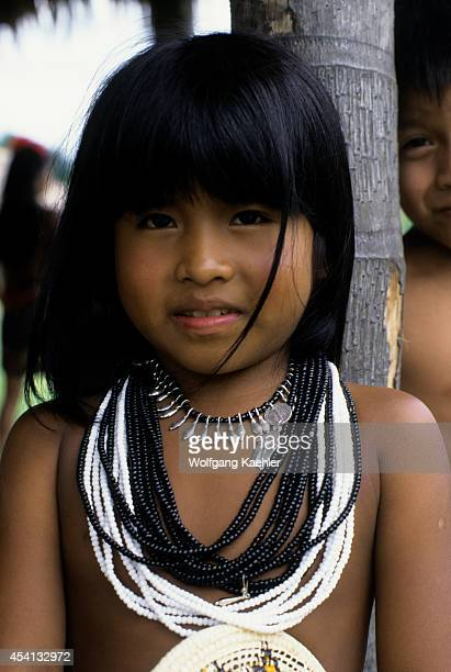 Panama Darien Jungle Choco Indian Village Choco Indian Girl Portrait