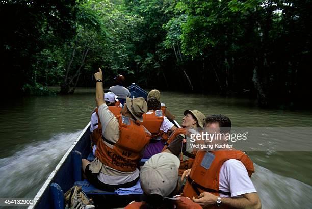 Panama, Darien Jungle, Sambu River, Tourists In Cayucos .