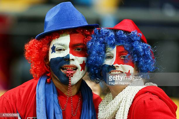 Panama fans show their support during the Group B FIFA U20 World Cup New Zealand 2015 match between Argentina and Panama at Wellington Regional...