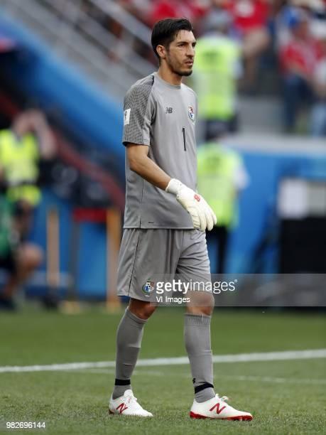 Panama goalkeeper Jaime Penedo during the 2018 FIFA World Cup Russia group G match between England and Panama at the Nizhny Novgorod stadium on June...