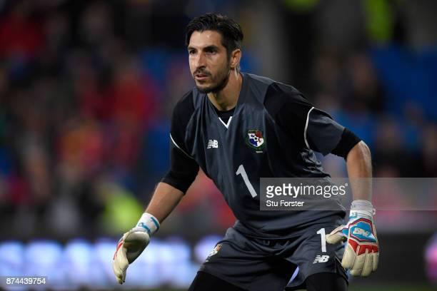 Panama goalkeeper Jaime Penedo in action during the International Friendly match between Wales and Panama at Cardiff City Stadium on November 14 2017...
