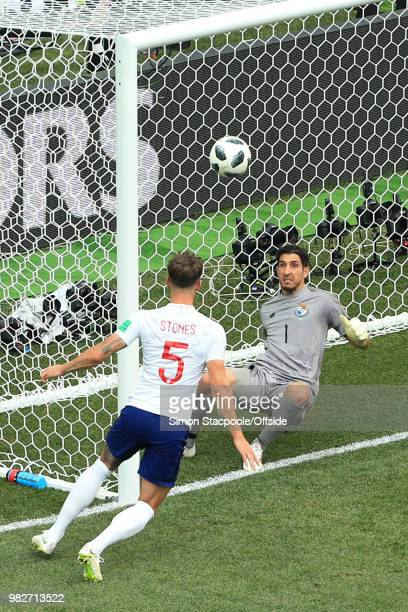 Panama goalkeeper Jaime Penedo is helpless as John Stones of England scores their 4th goal during the 2018 FIFA World Cup Russia Group G match...
