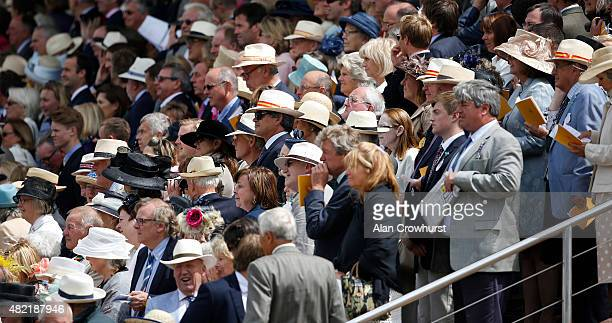 Panama hats at Goodwood racecourse on July 28 2015 in Chichester England