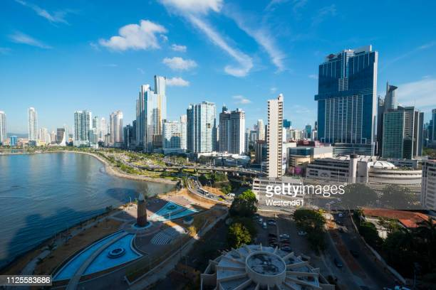 panama, panama city, skyline, financial district - panama stock pictures, royalty-free photos & images