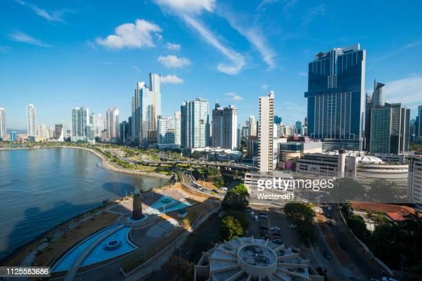 panama, panama city, skyline, financial district - panama city panama stock pictures, royalty-free photos & images
