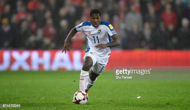 Panama player Armando Cooper in action during the International Friendly match between Wales and Panama at Cardiff City Stadium on November 14 2017...