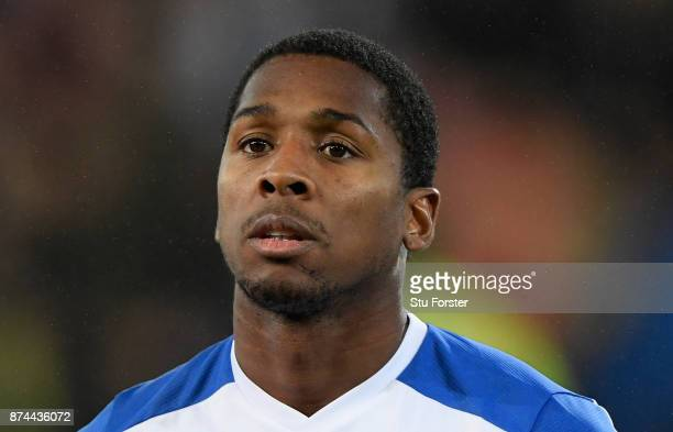 Panama player Armando Cooper pictured before the International Friendly match between Wales and Panama at Cardiff City Stadium on November 14 2017 in...
