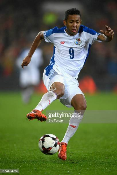 Panama player Gabriel Torres in action during the International Friendly match between Wales and Panama at Cardiff City Stadium on November 14 2017...