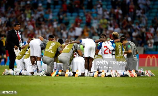 Panama player react following their's team 20 defeat during the 2018 FIFA World Cup Russia group G match between Belgium and Panama at Fisht Stadium...