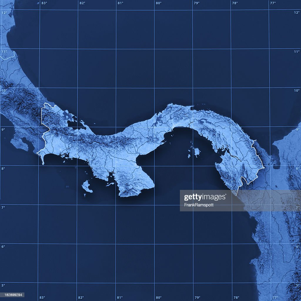 Topographic Map Of Panama.Panama Topographic Map Stock Photo Getty Images