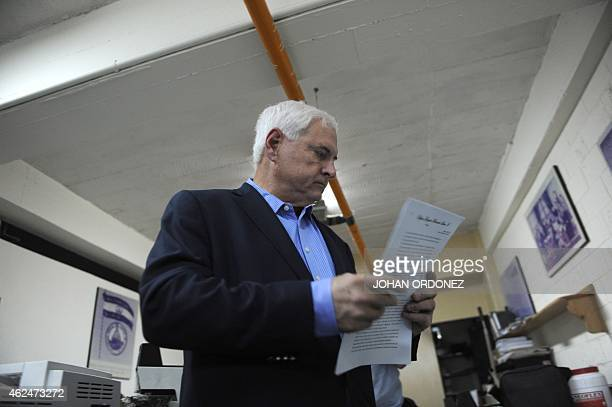 Panamanian former president and deputy of the Central American Parliament Ricardo Martinelli before a parliament's plenary session in Guatemala city...