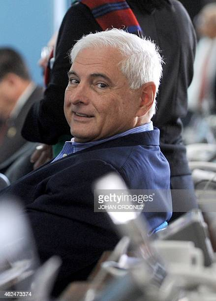 Panamanian former president and deputy of the Central American Parliament Ricardo Martinelli is seen during a parliament's plenary session in...