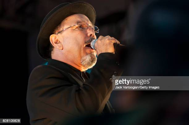 Panamanian musician actor and politician Ruben Blades performs onstage at Damrosch Park Bandshell at Lincoln Center Out of Doors New York New York...